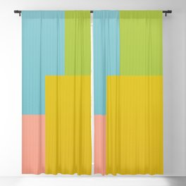 Corrugated Colorful Blackout Curtain