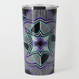 Teal and Purple Mandala Travel Mug
