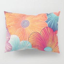 Big flowers Pillow Sham