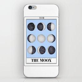 the moon tarot card iPhone Skin