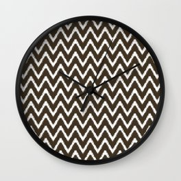Cola Southern Cottage Ikat Chevrons Wall Clock