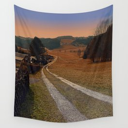 Scenery and a pathway into dawn | landscape photography Wall Tapestry