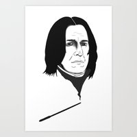 snape Art Prints featuring Snape by Nathan Dallesasse