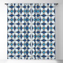 Blue Stained Glass Blackout Curtain