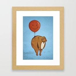 Float On, Bear, Float On Framed Art Print