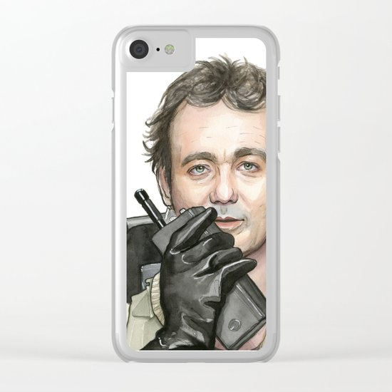 Bill Murray as Peter Venkman from Ghostbusters Clear iPhone Case