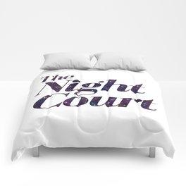 The Night Court Galaxy Design White Comforters