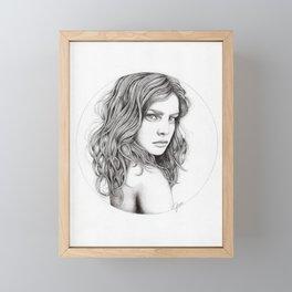 JennyMannoArt Graphite drawing Framed Mini Art Print