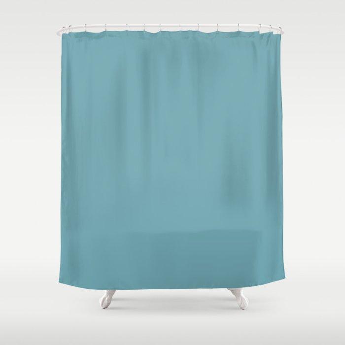 Hydrangea Blue In An English Country Garden Shower Curtain