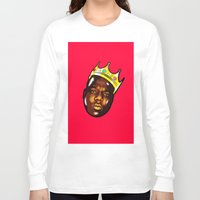 biggie Long Sleeve T-shirts featuring Biggie by Sulaiman aldaham