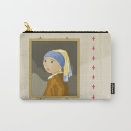 Girl with pearl by Vermeer  Carry-All Pouch