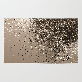 Sparkling Sepia Lady Glitter #1 #shiny #decor #art #society6 Rug