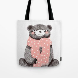 OSO, the bear with the big scarf.  Tote Bag