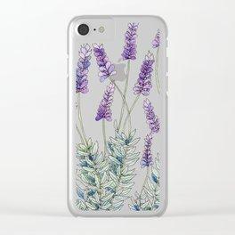 Lavender, Illustration Clear iPhone Case