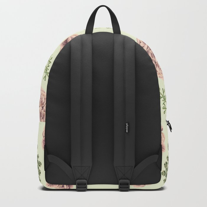 Secret Garden Pink and Green Backpack