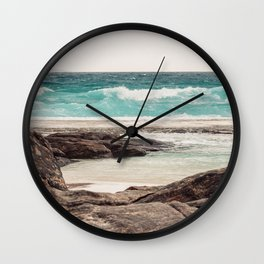 Watching the Waves Roll In Wall Clock