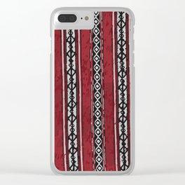 Red Arabian Pattern Clear iPhone Case