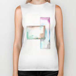 180914 Minimalist Geometric Watercolor 6 Biker Tank