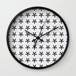 Nightmare? Starry pattern 1, Grey Wall Clock