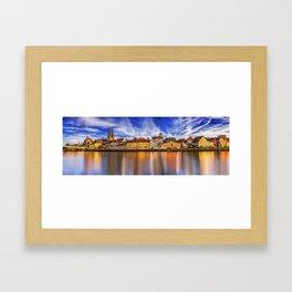Panoramic Regensburg | Germany Framed Art Print