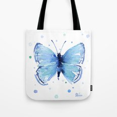 Blue Butterfly Watercolor Butterflies Animals Tote Bag