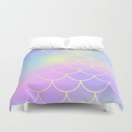 Pink Blue Mermaid Tail Abstraction Duvet Cover