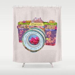 FLORAL CAN0N Shower Curtain