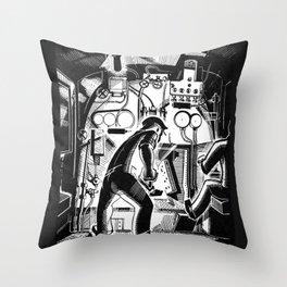 Running Through the Night Throw Pillow