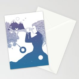 Watching the World I Once Knew (The Night Sky's Point of View) Stationery Cards