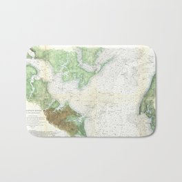 Patapsco River and Chesapeake Bay Map (1857) Bath Mat