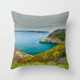 Cloudy Day at Signal Hill Throw Pillow