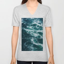 The Water Waves (Color) Unisex V-Neck