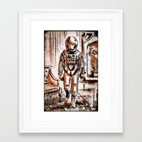 2001 Framed Art Prints featuring 2001 by Joe Badon