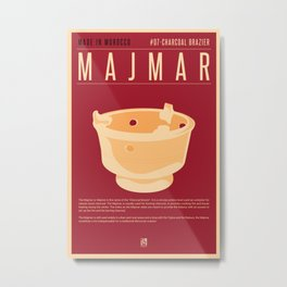 MADE IN MOROCCO #07-CHARCOAL BRAZIER Metal Print