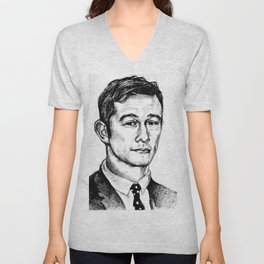 Joseph Gordon-Levitt drawing Unisex V-Neck