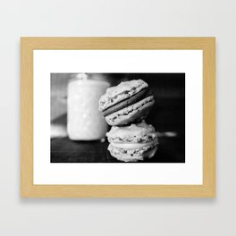 Beer Macarons in Black and White - Close-up Framed Art Print
