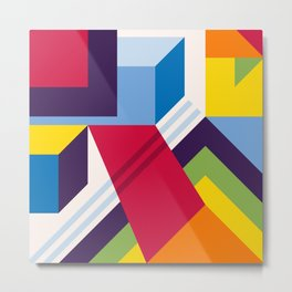 Abstract modern geometric background. Composition 13 Metal Print