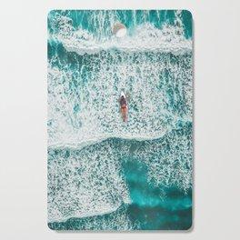 Girl Surfing Cutting Board