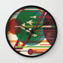 The Grand Tour : Vintage Space Poster Wall Clock