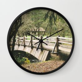 Country Bridge Wall Clock