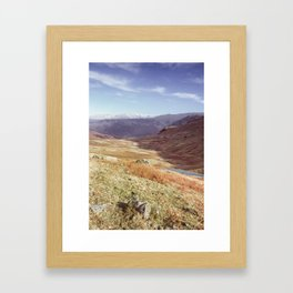 Autumnal colour on the Honister Pass. Cumbria, UK. (Shot on film). Framed Art Print
