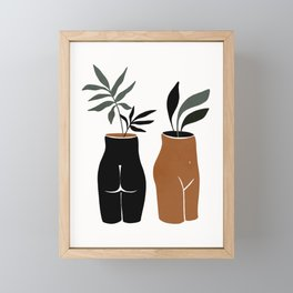 Nude Planters Framed Mini Art Print