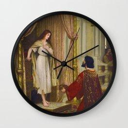 "Edmund Blair Leighton ""The King and the Beggar-maid"" Wall Clock"