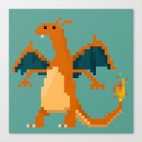 charizard Canvas Prints featuring Charizard by GregSuj