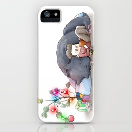 Wolfsmas iPhone Case