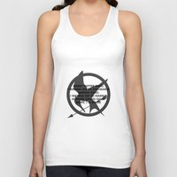 narnia Tank Tops featuring Hunger Games by Rothko