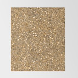 Gold Glitter Throw Blanket