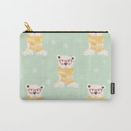 Polar bear pattern 004 Carry-All Pouch