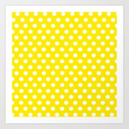 Yellow Dot Pattern Art Print