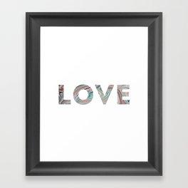 Marbled LOVE Framed Art Print